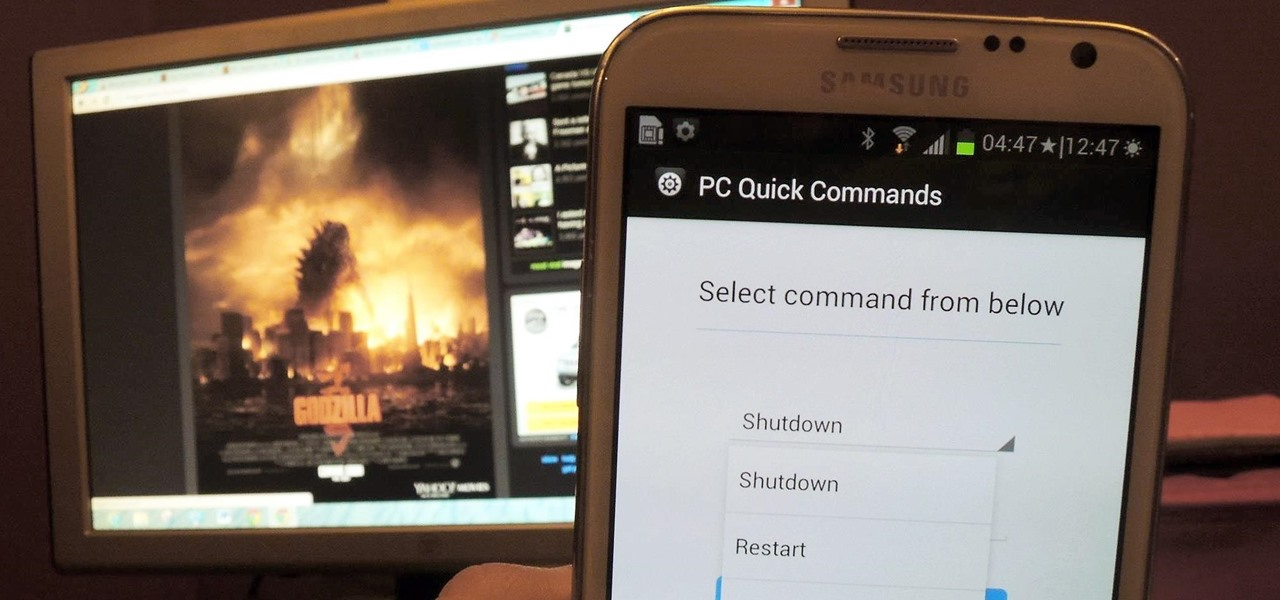 Send Shutdown, Sleep, & Other Commands to Your PC Remotely from Your Galaxy Note 2
