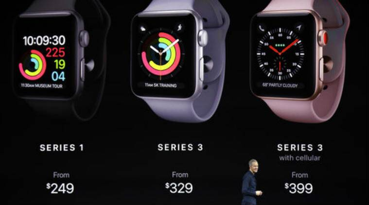 Apple Watch, Apple iPhone, Apple Watch Series 3, untethered world, wristwear options, Samsung Gear, call ID, Siri, iMessage, Apple Music, Apple podcast app, Watch Series 3 battery, Apple Watch Series 3 Wi-Fi connection issues, watch charger, watchOS4